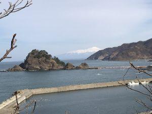 秋田からの帰り道 冬の日本海経由